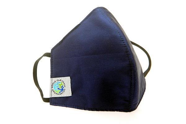 mondkapje fair trade blauw