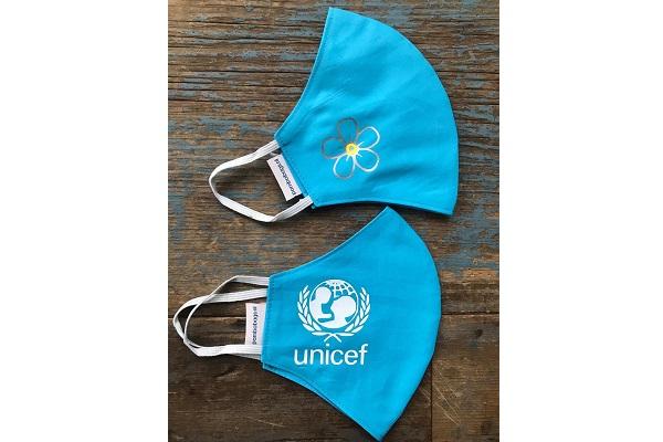 bedrukt mondkapje Unicef